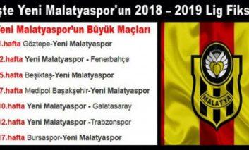 Yeni Malatyaspor'un 2018 – 2019 Lig Fikstürü
