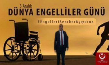 """BÜYÜK Birlik Partisi (BBP) Malatya Yeşilyurt Merkez ilçe Başkanı Ercan Altunkaya """"Unutmayalım ki engelli kardeşlerimizin, acınmaya ya da vicdanınızı rahatlatmak için işe alınmaya değil, gerçekten çalışıp hayatını devam ettirmeye ihtiyaçları vardır"""" dedi"""